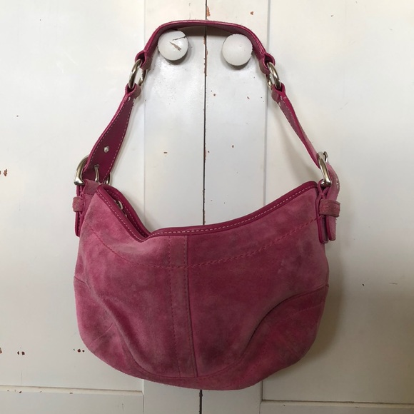 Coach Bags   Pink Suede Small Hobo   Poshmark 7313708e30